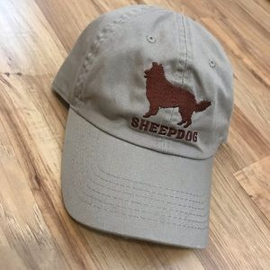 "Taupe Uni-sex ""Sheep Dog"" Baseball Cap!!"